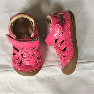 Stride Rite Pink SRT SM UMA Patent Leather Shoes